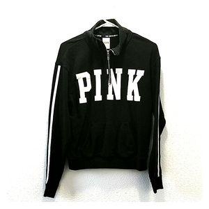 Pink Victoria Secret Women Quarter Zip Sweater XS